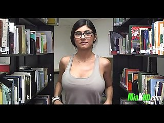 Mia Khalifa plays in the library 1 92