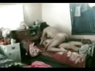 Desi Girlfriend boyfriend enjoying in hostel